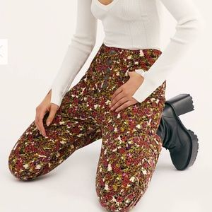 We the free Sun Chaser Cord Printed Skinny Jeans